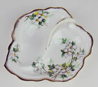 LEAF SHAPED DIVIDED SERVING DISH Vintage Royal Albert WHITE DOGWOOD