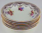 7 x DESSERT BOWLS / FRUIT NAPPIES Royal Doulton V1557 VINTAGE flowers brown
