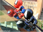1 pair red and black Auto part Spider man Doll Lovely Car Accessories