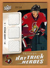 2009-10 , UPPER DECK , TRILOGY , JASON SPEZZA , HAT TRICK HEROES , GOLD , 39 50