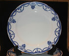 KEELING & CO ENGLAND LOSOL WARE BLUE & WHITE DINNER PLATE IN EVESHAM PATTERN