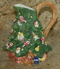 RARE FITZ & FLOYD OCI 1992 DECORATED CHRISTMAS TREE PITCHER 9