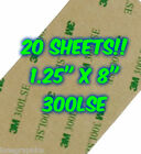 20 SHEETS 3M 300LSE Industrial Strength Double Sided Adhesive Cardmaking Crafts