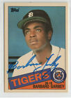 Barbaro Garby 1985 Topps Tiffany signed autographed card Detroit Tigers