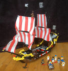 Vintage 1989 LEGO - Black Seas Barracuda Set 6285 with Mini-Figs Pirate Ship