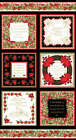 Seasons Greetings by Michelle D'Amore Christmas Cards Panel 24x44inches fabric