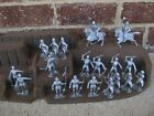 Marx Medieval Knights Silver 1/32 54MM Toy Soldiers Robin Hood