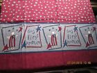 MODA Pieces From My Heart Fabric 1.5 yds Sandy Gervais Border Stars Red Wht Blue