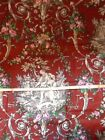 Beautiful Burgundy Toile Fabric Over 1 Yd 100% Cotton Quilting French Country