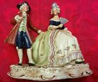 Vintage Dresden Porcelain Romantic Figurine Courting Couple Man