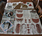 Lot Vintage Cat Cut Sew Panels Daisy Kingdon Paws in the Flowers Pillow Slippers