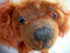 Old  realistic mohair dog reddish  excelsior stuffed jointed -German(?) Antique