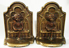 LINCOLN IMP Antique Cast Iron Bookends RARE Gothic Victorian England 1920's