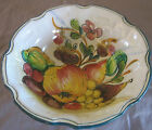 Vintage Hand Painted Italy Italian Art Floral Pasta Serving Bowl