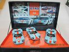 FLY TEAM GULF RACING SET W/3 FORD GT40 's 1/32 SCALE 1968 LEMANS LIMITED EDITION