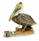 #4158PN - Brown Pelican - Kubla Crafts Trinket Box WITH Necklace - MIB-
