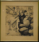 Possible Inspiration for Popeye by Famous Comic Artist Milt Gross - Signed!!!