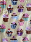 1 Yard Cupcake Girly Birthday Butterfly Cotton Fabric Cherry Sprinkle Bow