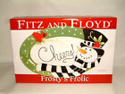 FABULOUS FROSTY'S FROLIC SENTIMENT TRAY FROM FITZ & FLOYD, NEW IN BOX