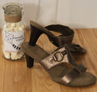 NEW ~9W ~BRONZE~LEATHER~JESSIE Cloudwalkers Shoes~Mules~SEXY~SLIDES~SANDALS~