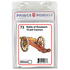 Artillery Cannons 40mm scale  model Prince August rubber moulds molds PA73