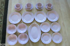 STERLING China Co.SHELL PINK 21pc Plates, Bowls, Cups, Saucers,Platter Set for 4