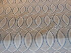 ELIPTICAL GREY BLUE AND CREAM GEOMETRIC CONTEMPARY WOVEN UPHOLSTERY FABRIC