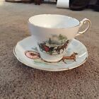 Regency bone china horse and buggy tea cup and saucer - good condition
