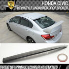 Fits 06-15 Honda Civic 4Door 4D 4Dr IKON Unpainted Rear Roof Spoiler Wing  - ABS