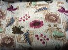 Rare Leaves flowers plant branches patchwork fleece fabric 60 wide sold BTY
