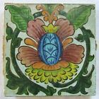Vintage Antique Tile DeMorgan Style Flower Spain Portugal
