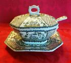 Signed Conimbriga Ceramic Majolica Portugal Hand Painted Small Tureen