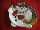 FITZ AND FLOYD CHRISTMAS SNOWMAN SERVING PLATE.  NWT