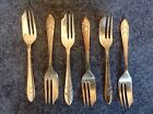 Six (6) M.S. Ltd EPNS Sheffield England Pastry or Pie Forks