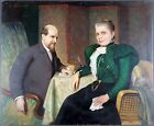 Charles Corbineau Antique Oil Painting Old On Panel Signed Original Vintage