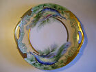 Antique Hand Painted Signed Plate - Art Deco Peacocks - Z.S.& C. Bavaria
