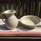 Vintage Pottery Water Pitcher & Bowl Paul Storie Marshall Texas PRICE REDUCTION