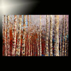 ORIGINAL forest painting large huge fine ART fall AUTUMN winter trees TATIANA