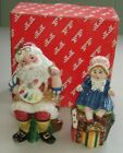 Fitz & Floyd Santa's Magic Workshop Salt & Pepper Shakers w/Box