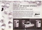 1967 Zenith Circle of Sound Modular Stereo Record Changer VINTAGE PRINT AD 8
