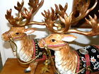 Hard To Find Fitz & Floyd Classics CHRISTMAS LODGE Deer Taper Candle Holders