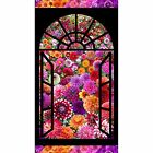 Digital Garden DIGITALLY PRINTED Window Panel 24 by 44 inches cotton fabric