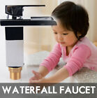 Oil Rubbed Bronze Bathroom Sink Vessel Faucet - One Handle & Waterfall Mixer Tap