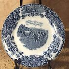 WEDGWOOD Antique Flow Blue Plate Pasture Scene With Cows/Cattle  10