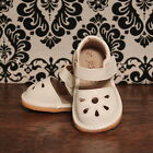 White Flower Punch Toddler Girl Squeaky Sandals Shoes Sizes 3 4 5 6 7 8