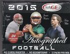 2015 Sage Autographed Football Sealed Hobby Box