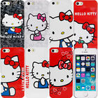 Cute Hello Kitty Case for Apple iPhone 5 5S SE Plastic Snap on Protective Cover