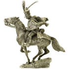 French Hussar, France 1812. Tin toy soldier 54mm miniature metal sculpture