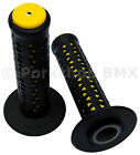 AME old school BMX Unitron bicycle grips BLACK over YELLOW MADE IN USA NEW