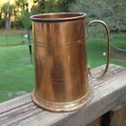 Vintage Copper Stein Tankard Made in England with Brass Handle